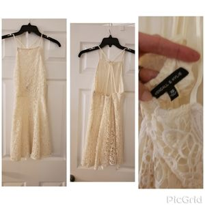 Off white homecoming/prom dress
